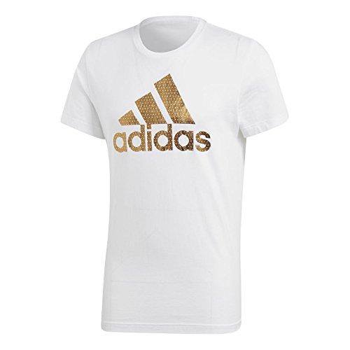 Adidas bos foil t-shirt, uomo, bos foil, bianco, 2xl