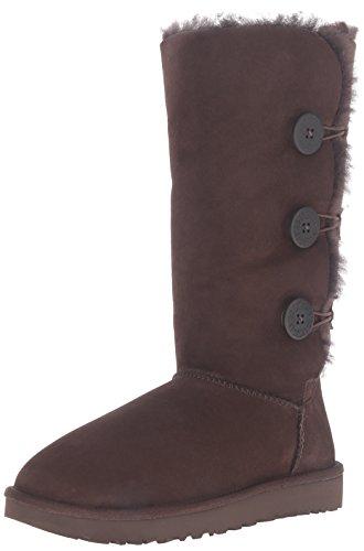 UGG Women's Bailey Button Triplet Ii Winter Boot, Chocolate, gebraucht kaufen  Wird an jeden Ort in Deutschland