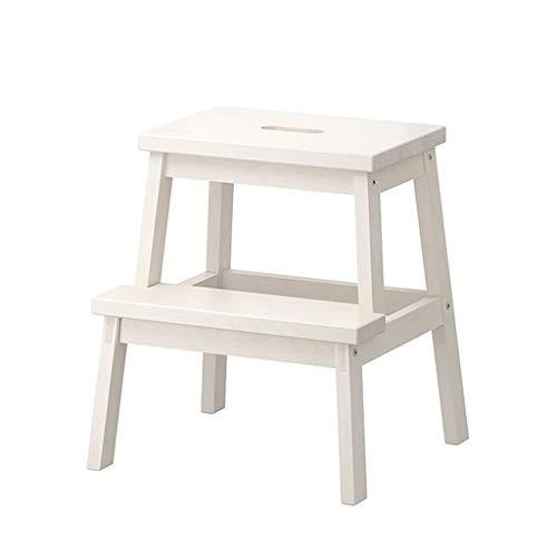 MMAXZ Zwei-Stufen-Hocker, Holz-Tritthocker für Kinder und Erwachsene, Heim und Büro, ab 3 Jahren (Farbe : C)