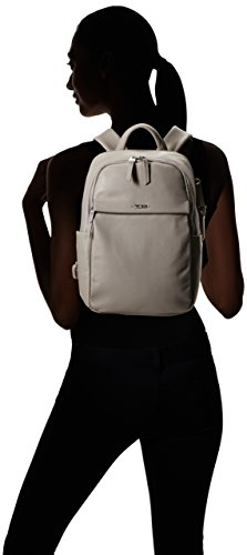 Tumi Voyageur, Daniella Small Leather Backpack, 12 Laptop computer, Gray, 017002Gy Image 5
