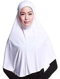 f391b0967d3 HITSAN INCORPORATION Colorful Muslim Crystal Hemp Cloth Cotton Hijab Amira  Headscarf Slip On-Islamic Scarf