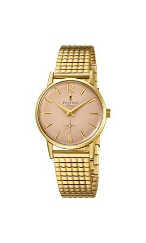 Reloj Mujer FESTINA EXTRA F20257/2 de Acero inoxidable ba?ado en oro Dorado