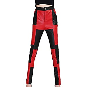 HHXWU Hosen Damenhosen Lederhosen dünne Hosen Hosen Hosen Frauen Lederhosen