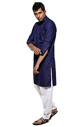 ethiic men's blue denim pathani