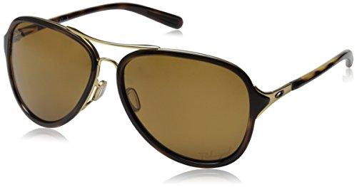 Oakley Damen 0OO4102 Sonnenbrille, Grau (Satin Gold/Tortoise), 58