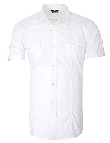 Herren Männer Freizeit Hemd Kurzarmhemden Slim Fit Business Hemd XL