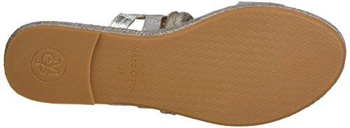 Marc O'Polo Damen 70313881903601 Sandal Grau (Grey/Silver)