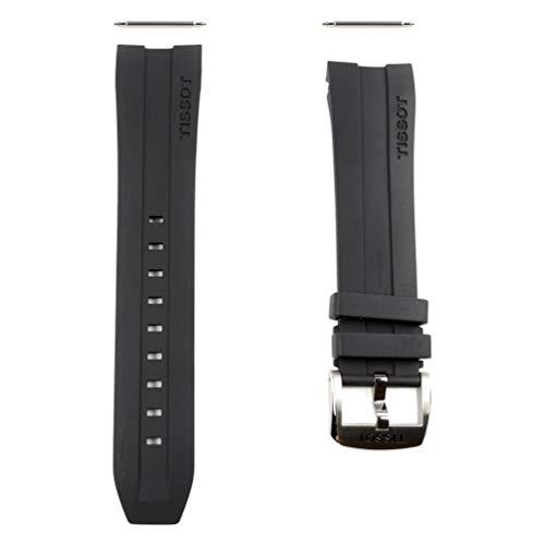 Schwarzes Gummiband T603034055 Tissot PRC 200 Automatik T055427A 23 mm