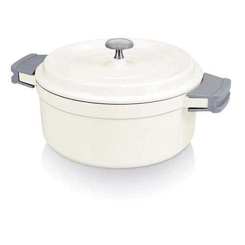 Beka Cook On Round Casserole & Lid 24cm / 4.2L White