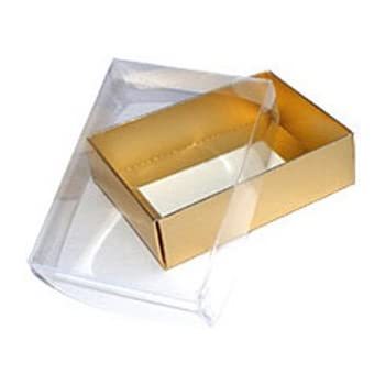 25 X Clear Lid Presentation Gift Boxes Choice Of Size Colour