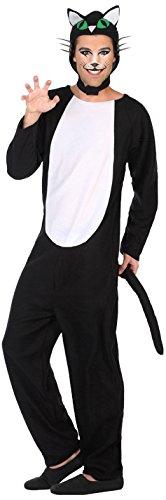 Atosa-38768 Disfraz Gato, Color Negro, M-L (38768