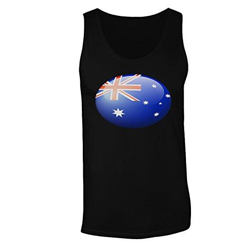 Regalo di palla della bandiera australiana canotta da uomo g124mt Black