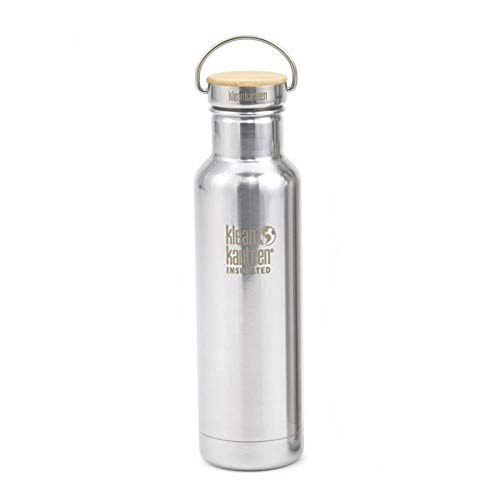 Klean Kanteen Bottiglia in Acciaio Inox con Stainless Unibody Bamboo Cappello Reflect, Edelstahlflasche mit Stainless Unibody Bamboo cap 800 ml Reflect, Mirrored Stainless