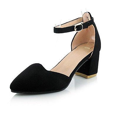 LvYuan Damen-Sandalen-Büro Kleid Party & Festivität-Vlies PU-Blockabsatz-Andere-Schwarz Weiß Grau Black