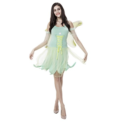 VENI MASEE Frauen-Illusion Prinzessin Magie Fee Ballerina Dress Up Halloween-Kostüm - Grün