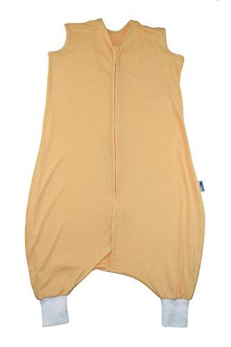 Schlummersack Schlafsack mit Füssen aus Bambus-Baumwolle ungefüttert für den Sommer in 0.5 Tog - Gelb - 24-36 Monate/100 cm