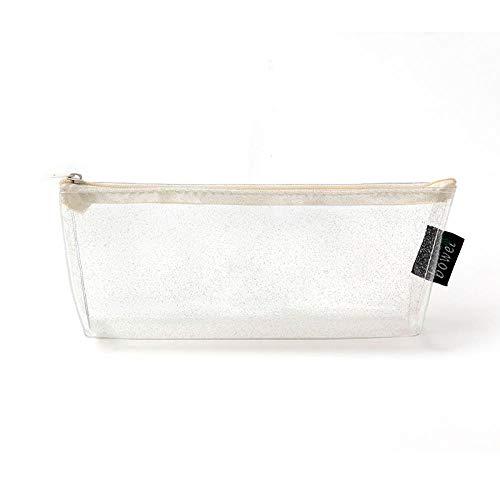 Estuches Láser blanco transparente PVC caja lápices
