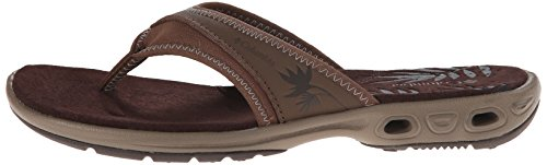 Columbia Kambi Vent, Women's Flip Flop, Multicolor (Dark Brown/Truffle), 38 EU