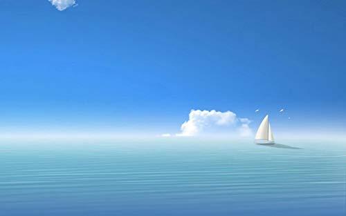 GAGALAM Holzpuzzle Für Erwachsene 1000 Teile Ozean Unter Dem Blauen Himmel.Buchstabenlogo Auf Der Rückseite, Hölzerner Teiler, Nur Für Bessere Puzzlespiele