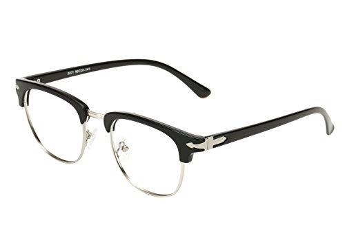 Embryform TR90 Vintage Inspired Classic Half Frame Clear Lens Brille