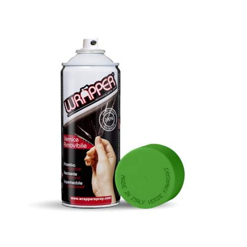 DFGRICAMBI Wrapper, Pellicola Spray Rimovibile, 400 ml - Verde Kawasak