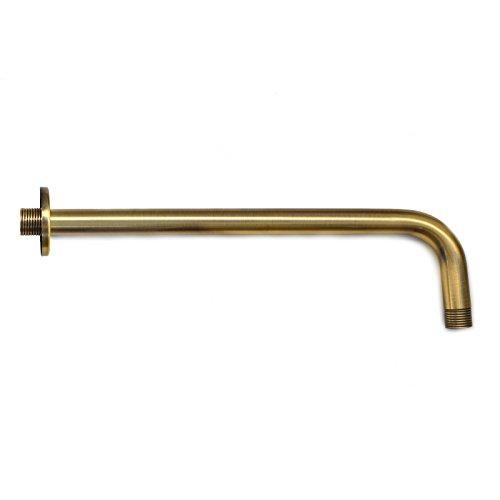ENKI Brausearm für Kopfbrausen 300 mm Retro & Rund Unterputz Bronzefarben