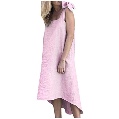 TYTUOO Fashion Damen Dress Sommer Riemchen Baumwolle