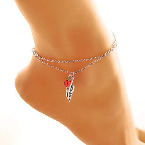 YDXJJ Armband Legierung Mehrschichten Gold Silber Perlen Pailletten 3 Stück Set Armband Für Frauen Schmuck Fußkette Fußkettchen Zubehör Geschenk