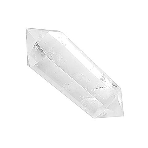 Cristal Naturel Quartz Clair Deux Point Guérison Colonne Cristal Strass Quartz Transparent
