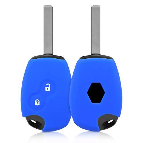 Kwmobile cover chiave auto per renault dacia - protezione in silicone - guscio protettivo coprichiave - custodia per chiave renault dacia con 2 tasti