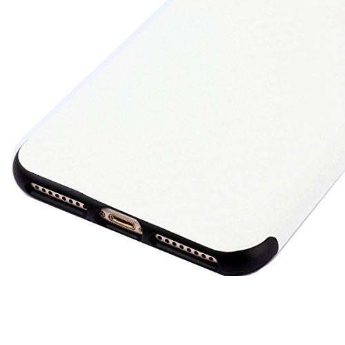 Für iPhone 7 Plus Künstlerische Carbon Faser Texture Soft TPU Schutzmaßnahmen zurück Fall DEXING ( Color : Coffee ) White