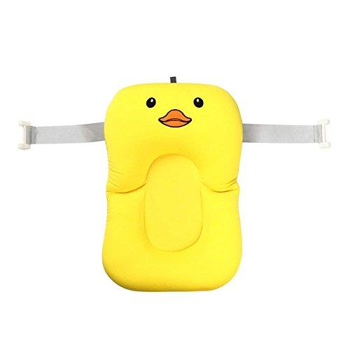 ssen, weiches Badewannenkissen und -Liege für Neugeborene Yellow Duck With Hook ()