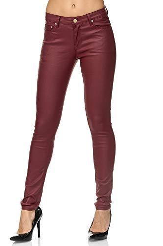 Elara Mujer Skinny Fit Treggings | Leggings Cuero