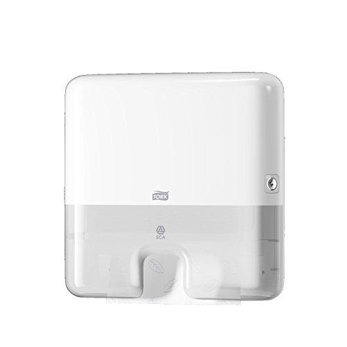 Tork 552100 Xpress Mini Spender und H2 Multifold Handtücher im Elevation Design / Papiertuchspender für hygienische Einzeltuchentnahme, Weiß