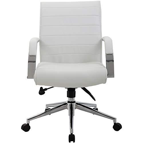 entity mit Lederbezug, weiß - Bürostuhl mit Soft Touch Leder - Schreibtischstuhl mit italienischem Design ()