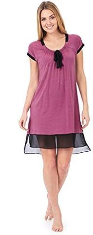 DKNY Damen Nachthemd Gr. Medium, Pink Stp (Dkny Lingerie)