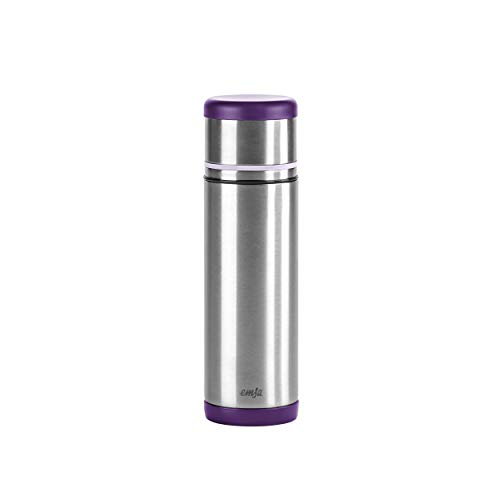 Emsa 509226 Isolierflasche, Mobil genießen, 500 ml, Safe Loc Pro Verschluss, Brombeer-Lila, Mobility