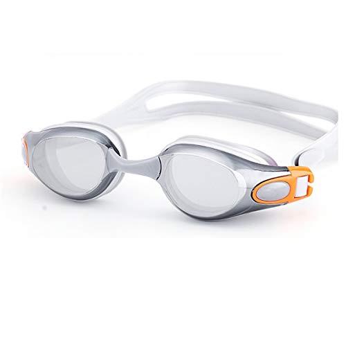 Seturrip - Schwimmbrille Myopie Männer und Frauen Anti-Fog professionelle wasserdichte Silikon-Arena Pool Schwimmen Brillen Erwachsener Schwimmbrille [Grau Normal 0]