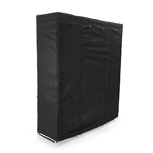 PrimeMatik - Armario ropero guardarropa de Tela Desmontable 150 x 45 x...
