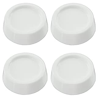 Spares2go Universal Anti Vibration Rubber Feet Pads for all makes of Washing Machine (Pack of 4, Non Slip, White, 64mm x 57mm x 45mm)