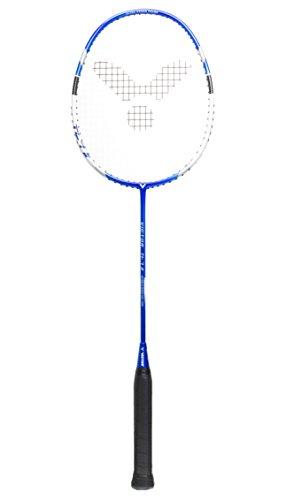 Victor Ti 7 Graphite Badminton Racquet - Blue/White - 88g