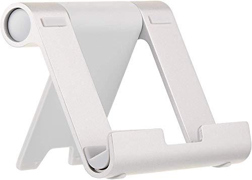 AmazonBasics Tragbarer Ständer mit verstellbarem Betrachtungswinkel für Tablets, E-Reader und Handys - Silber