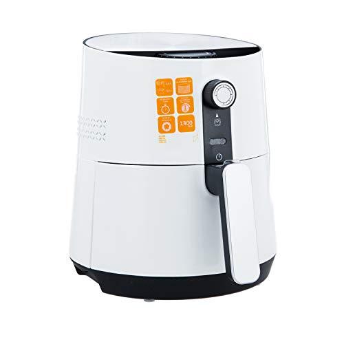 ALASKA Heißluft Friteuse AF 1300   Heißluftfritteuse   2,5 L Fassungsvermögen   3,5 L Pfanne   60 Minuten Timer Abschaltautomatik   Stufenlos einstellbar   Überhitzungsschutz