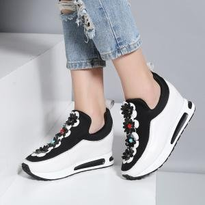 hexiajia , Chaussures à lacets femme Blanc
