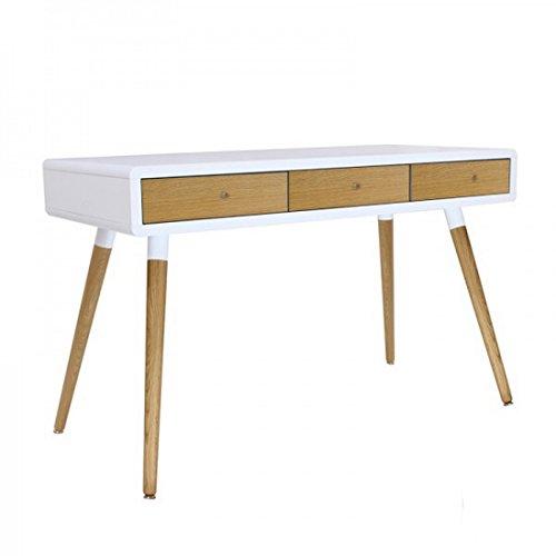 Bello Tv-tisch (Actual Diffusion 9615-oak Vintage Büro mit 3Schubladen/4Füße Holz 55x 120x 76cm)