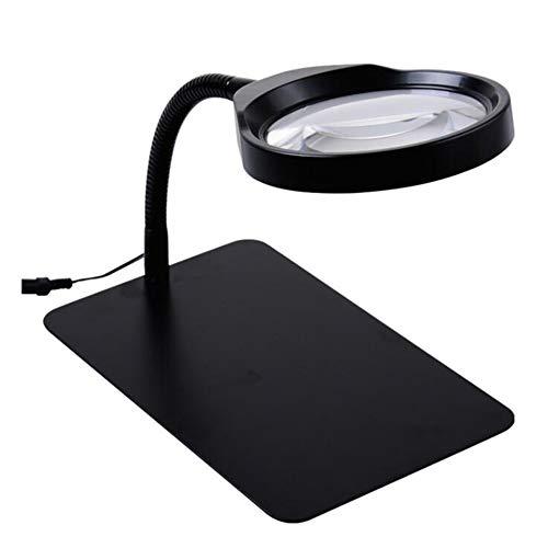 MODYL Lupe 10-Mal Hochauflösende Große Spiegel-Elektronische Leiterplatten-Wartung Lesen Mit Einer 36Led-Licht-Plug-In-Radio-Lupe