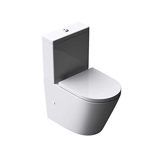 Sogood Design Stand-WC Toilette Aachen179T bodenstehend Tiefspüler mit Silent-Close spülrandlose Toilette spülrandloses WC