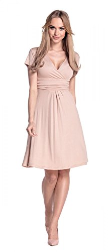 Glamour Empire Flattering Dress 108 - Patineuse - Femme Beige