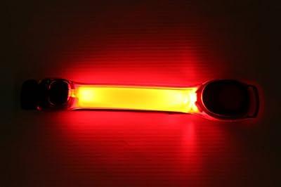 2er Set LED Armband Sicherheitsband Blinkend mit Rot Licht für Joggen, Fahrrad - LED Sicherheitslicht von PK Green
