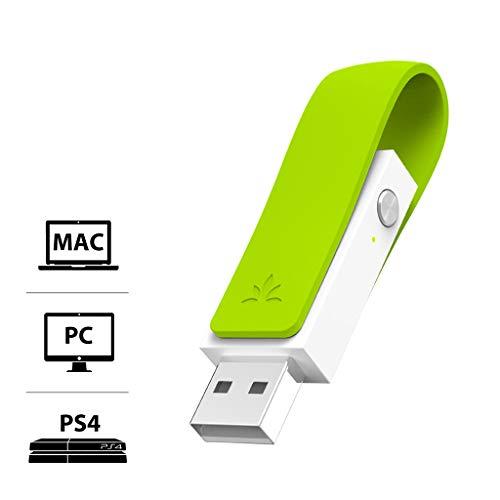 Avantree Leaf USB Bluetooth 4.1 Audio Adapter Dongle Stick für PC PS4 Linux Mac, Wireless Transmitter Sender für Kopfhörer & Lautsprecher, HOHE REICHWEITE, Plug & Play, aptX Low Latency